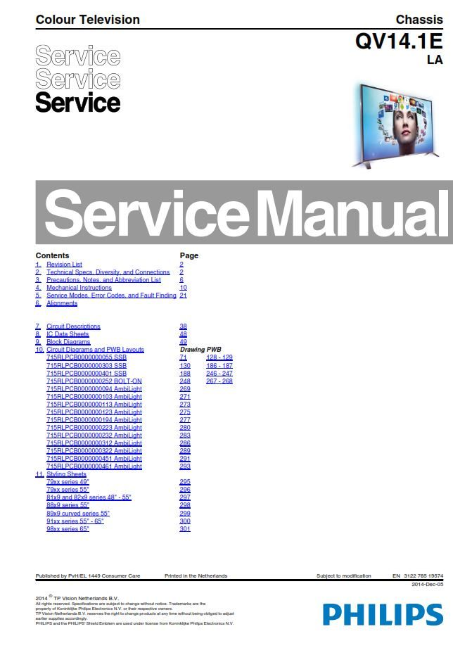 Outstanding Philips 48Pfs8109 48Pfs8209 48Pfs8159 Tv Service Manual And Repair Wiring Digital Resources Remcakbiperorg
