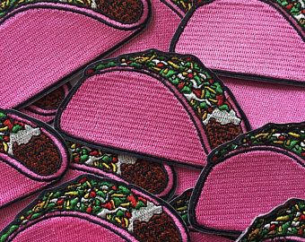 PINK TACO - Iron On Patch
