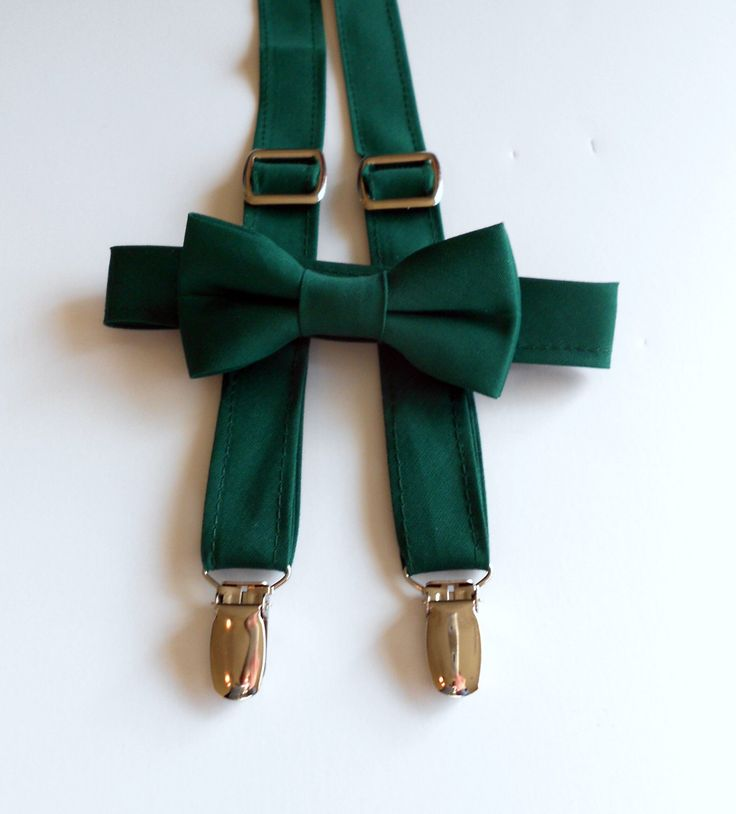 Green Bow Tie And Suspenders Forest Bow Tie Hunter