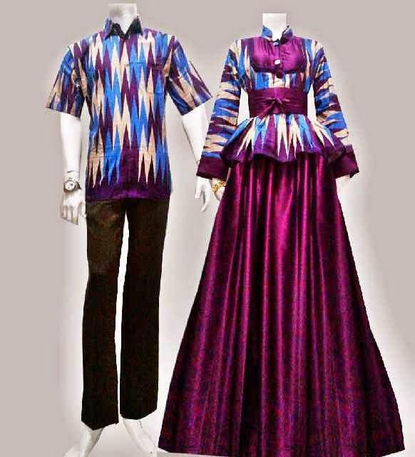 Model Baju Batik Gamis Motif Rang Rang Call Order 085