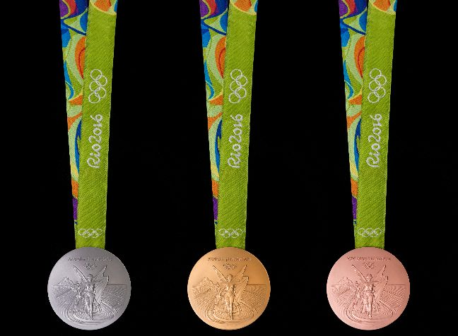The silver and bronzemedals used for Rio 2016 are made of 30% recycled materials. Recycled silver come from leftover mirrors, waste…