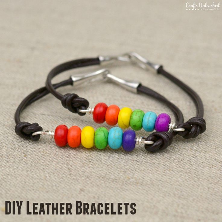 Here's a fast and easy DIY leather bracelet design that makes up in under 10 mins. It's perfect for stacking and layering, and it's great for summertime!
