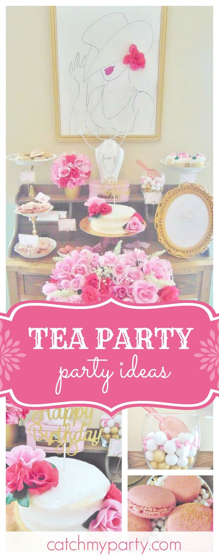866 best Pink Party Ideas images on Pinterest | Candy stations ...