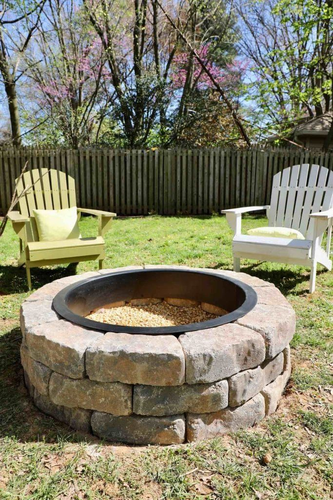 How To Build A Diy Fire Pit With Gravel And Stones Fire Pit Kit