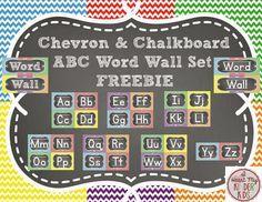I Heart My Kinder Kids: ABC Word Wall Headers in Chevron & Chalkboard
