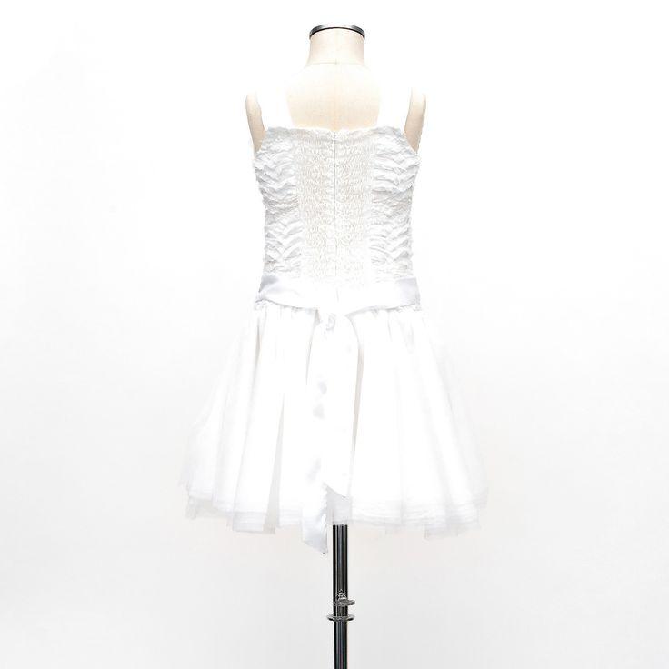 Broderet kjole med pailletter og tyl