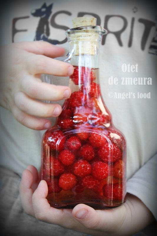 Otet de zmeura si otet de coacaze rosii