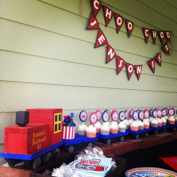 Birthday Cupcake ChooChoo Train Custom Name, cupcake train, train party, choo-choo party