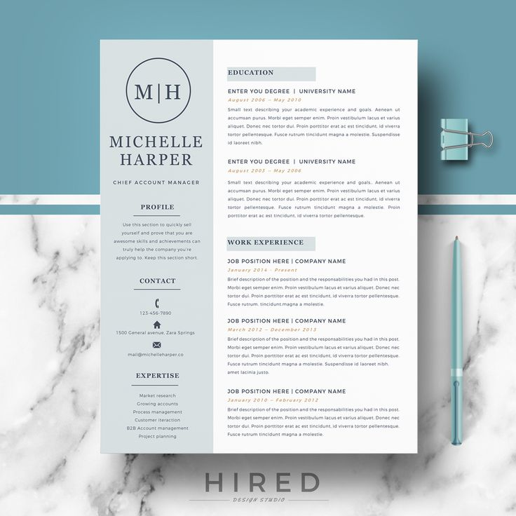19 best Minimalist Resume \/ CV Templates images on Pinterest - resumes that get you hired