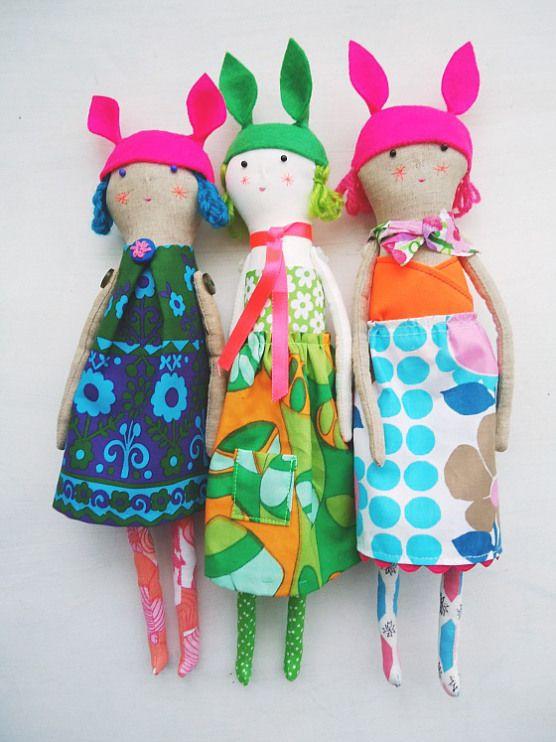 modflowers: felt hatted dolls