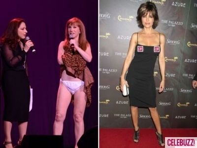 Overexposed Lisa Rinna And Kathy Griffin Flash Too Much