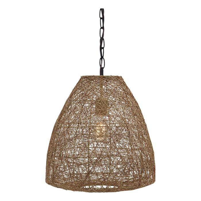 Eadoin modern pendant light in natural nebraska furniture mart