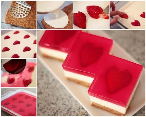 How to DIY Yummy Strawberry Jelly Hearts Cheesecake | iCreativeIdeas.com Like Us on Facebook ==> https://www.facebook.com/icreativeideas