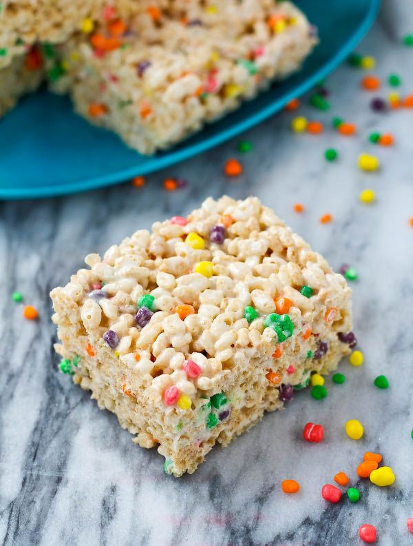 Nerds Rice Krispie Treats - RachelCooks.com