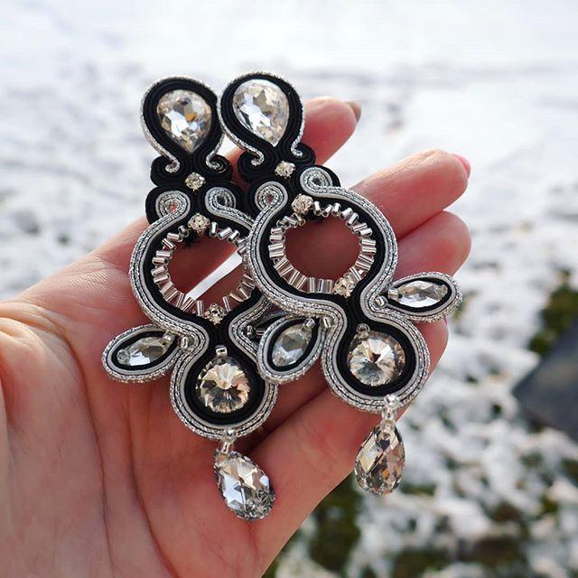 INSTA @torsada_com Soutache earrings DIAMOND ❤💕💕❤ . .