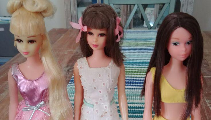 Growin' Pretty Hair Francie, Straight Leg Francie and Baggie Francie dolls #FrancieFun