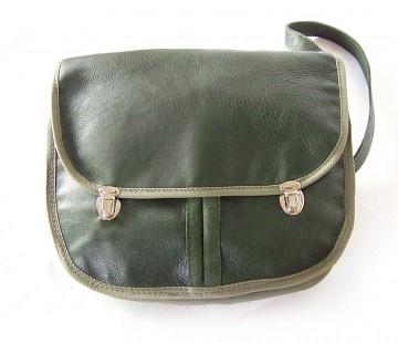 torby na ramię - unisex-Militarna z lamówką