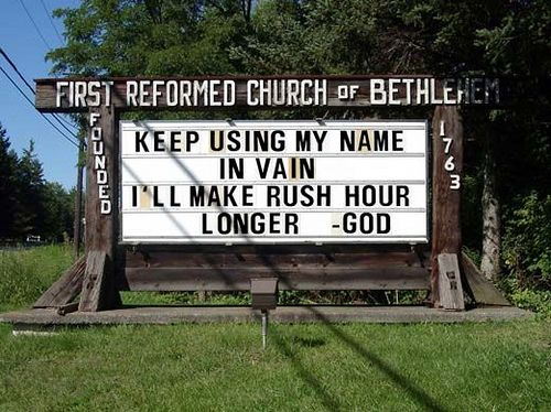 church signs funny - Google Search