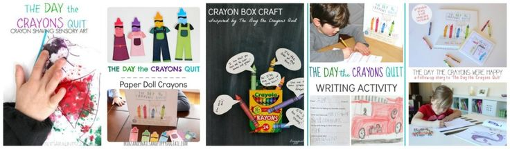 5 ways to explore the book The Day the Crayons Quit by Drew Daywalt