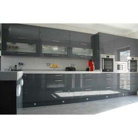 DKBC High Gloss Acrylic grey Flat M32 Kitchen Cabinets and Vanities | DKBC kitchen cabinets