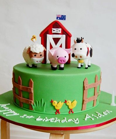 farm animal cake barnyard birthday cake cakes of all kinds for every 4050