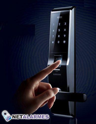 Fechadura Digital Samsung Shs-5230 Leitura Biométrica Senha