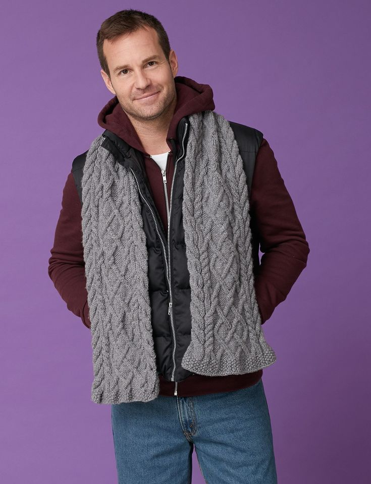 Knitting Scarf For Men : Best images about knit scarves cabled on pinterest