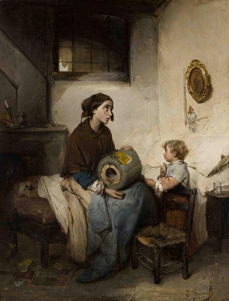 Du pain et des larmes. Huile sur toile 1855 de Induno Domenico (italien 1815 - 1878)