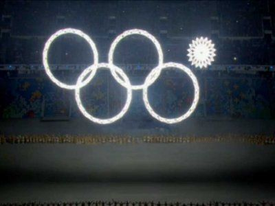 Russia TV Doctors Olympic Rings Malfunction Video