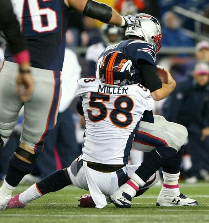 Von Miller sacking Tom Brady...     Well, this one's certainly worth keeping - GO VON... NOT a Brady fan :o(  )