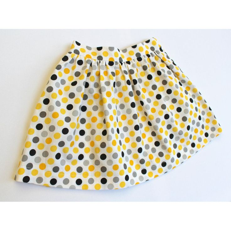 $32.00 Yellow Spot Flat Front Skirt  SIZE 5 by RosieRed on Handmade Australia