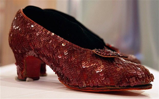 Smithsonian to see Dorothy's Ruby Slippers worn by Judy Garland in the Wizard of Oz.