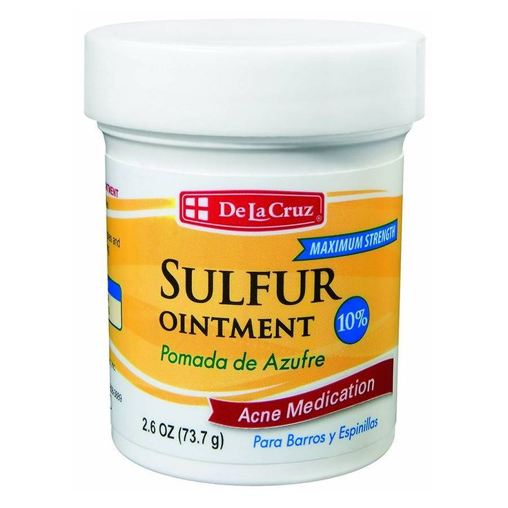 De la cruzsulfur ointment 10 acne medication ointment at