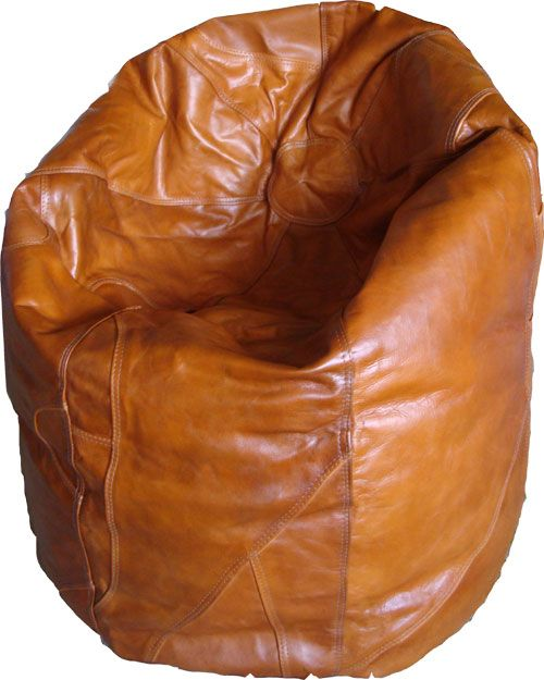 Tan Leather Beanbag Available In More Colours From 195