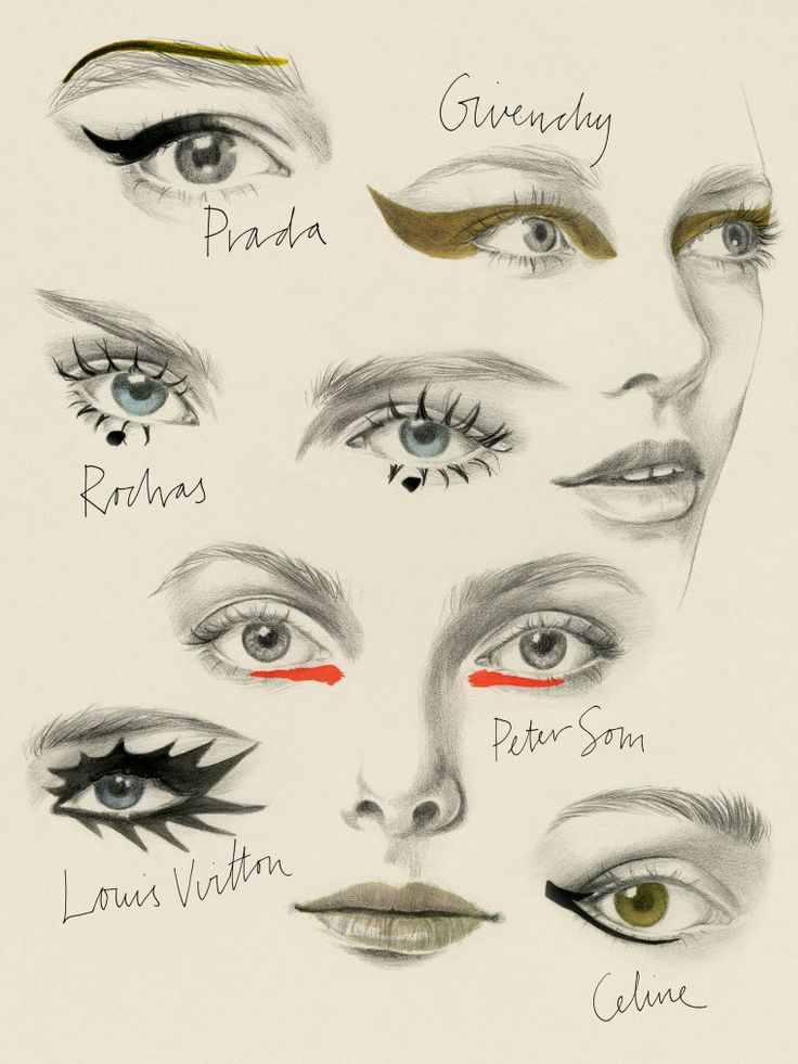 The 6 Best Eye Makeup Looks for Spring 2015- Illustrated by Cecilia Carlstedt