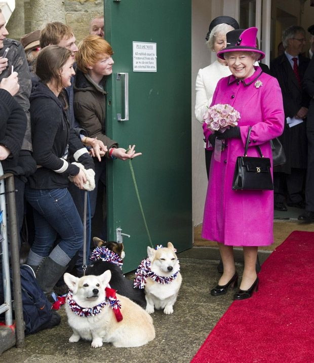 The Queen, 86, was in Sherborne, Dorset, with Prince Philip, 90, visiting the South West as part of a UK tour to mark her Diamond Jubilee year. (She loves Corgis!)