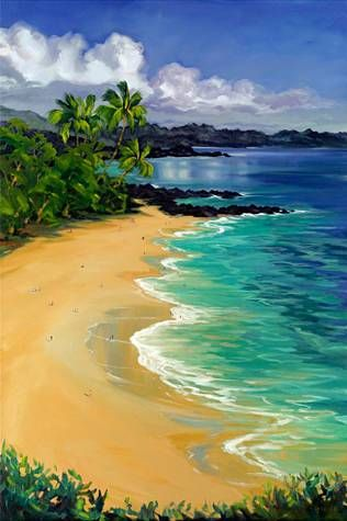 """""""Big Beach"""" by Janet Spreiter at Maui Hands"""