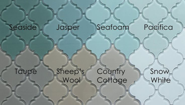 Seaside Arabesque Glass Mosaic Tiles - www.rockypointtile.com