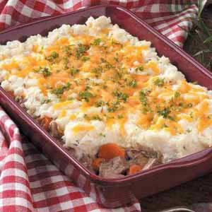 Deep-Dish Hunter's Pie - a dressed up shepherd's pie with venison and mushrooms instead of lamb