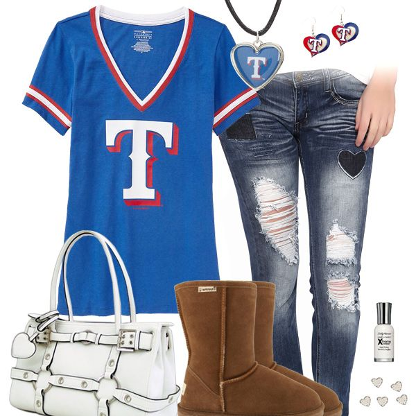 I Heart The Texas Rangers Outfit