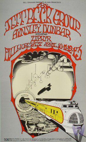 Jeff Beck  Country Joe & the Fish  Chuck Berry  Aynsley Dunbar Retaliation  Zephyr    4/10-13/1969Randy Tuten
