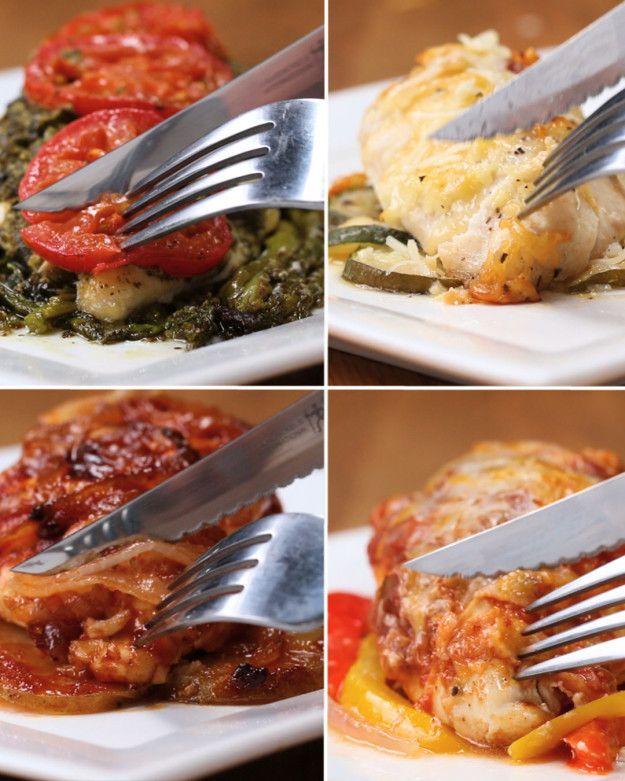 Parchment-Baked Chicken 4 Ways | Parchment-Baked Chicken 4 Ways-just modify the one with potatoes for low carb