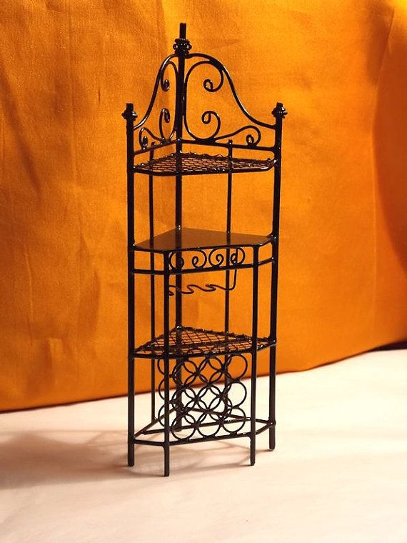 Doll House Bakers Rack  Doll House Black by Louisianaminis on Etsy, $16.75