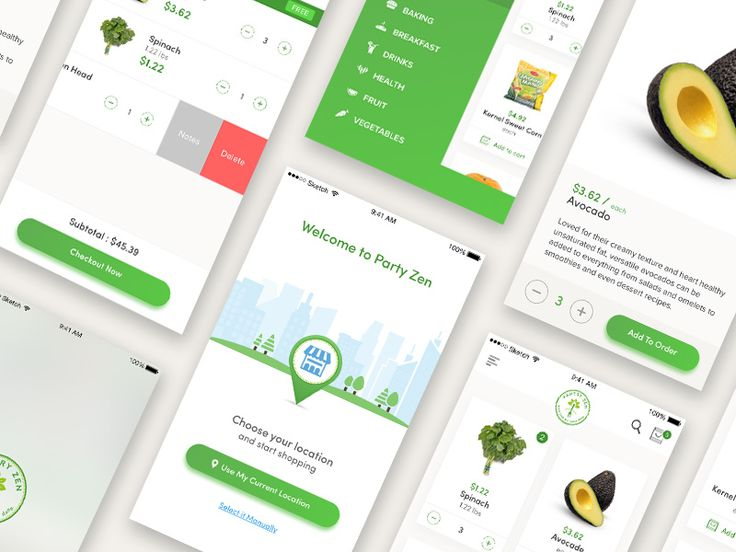 Grocery app concept by adhrian