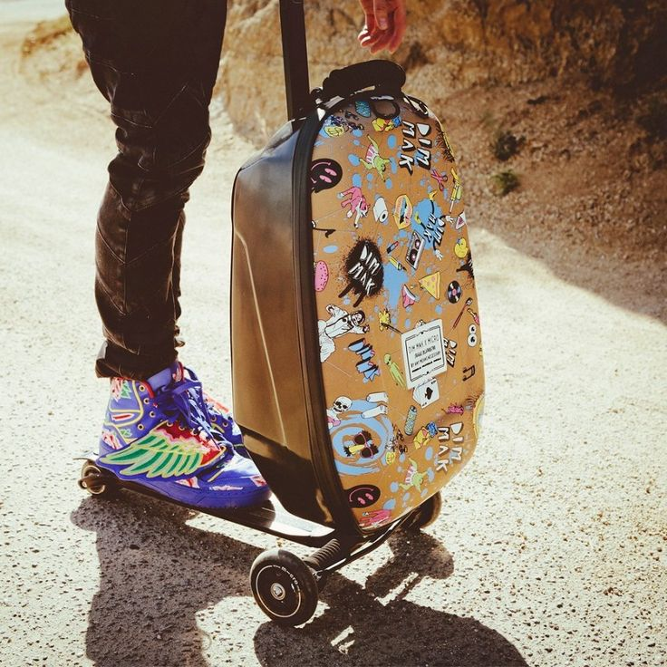 a cool travel gadget - Luggage Scooter a cool travel gadget #InspiredTraveller #travel
