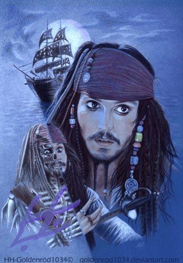 Captain Jack Sparrow by ~goldenrod1034 on deviantART ~ POTC