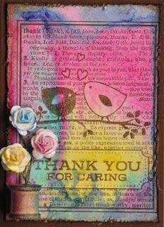 Deze week is de uitdaging bij Simon Says Stamp and Show om iets te maken met 'Thank You'. Ik heb een bedank ATC tje gemaakt met de nieuwe ...