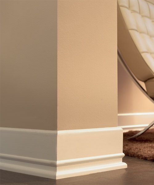 modern baseboards Wall color