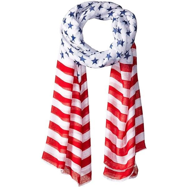 D&Y Women's Americana Oblong Scarf ($6.07) ❤ liked on Polyvore featuring accessories, scarves, american flag scarves, oblong scarves, long shawl, d&y scarves and long scarves