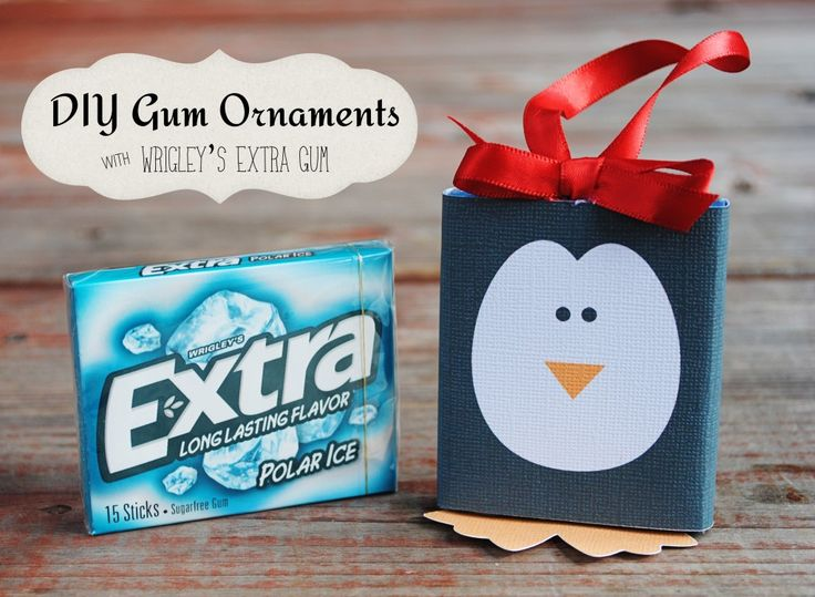 Stocking Stuffers Gum Ornaments with Wrigley's Extra Gum {Free Printable Download Wrappers to Make Them!} #GiveExtraGum #shop #cbias